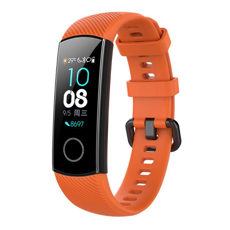 Против царапин мягкий силиконовый ремешок для часов спортивный ремешок Замена для huawei Honor 5/4 спортивный браслет аксессуары L41E - Цвет: O