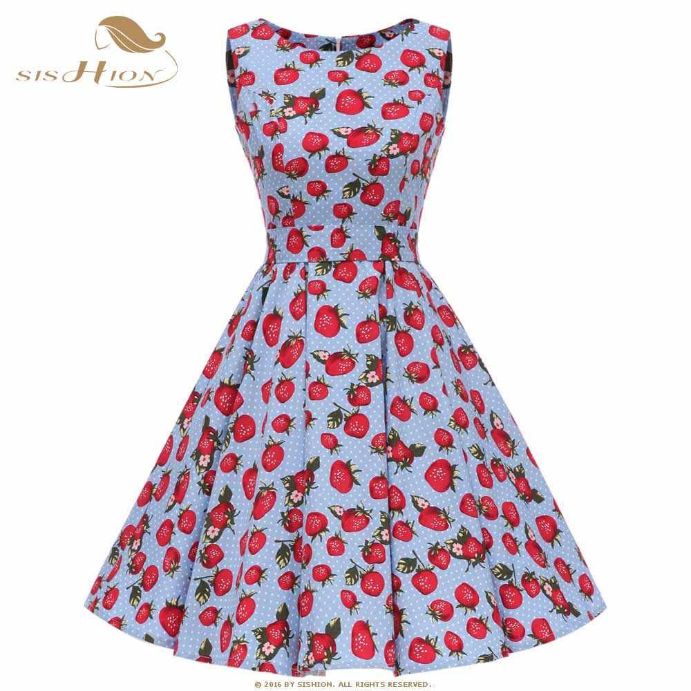 60s blue floral mini dress bow neck cotton polka dot large