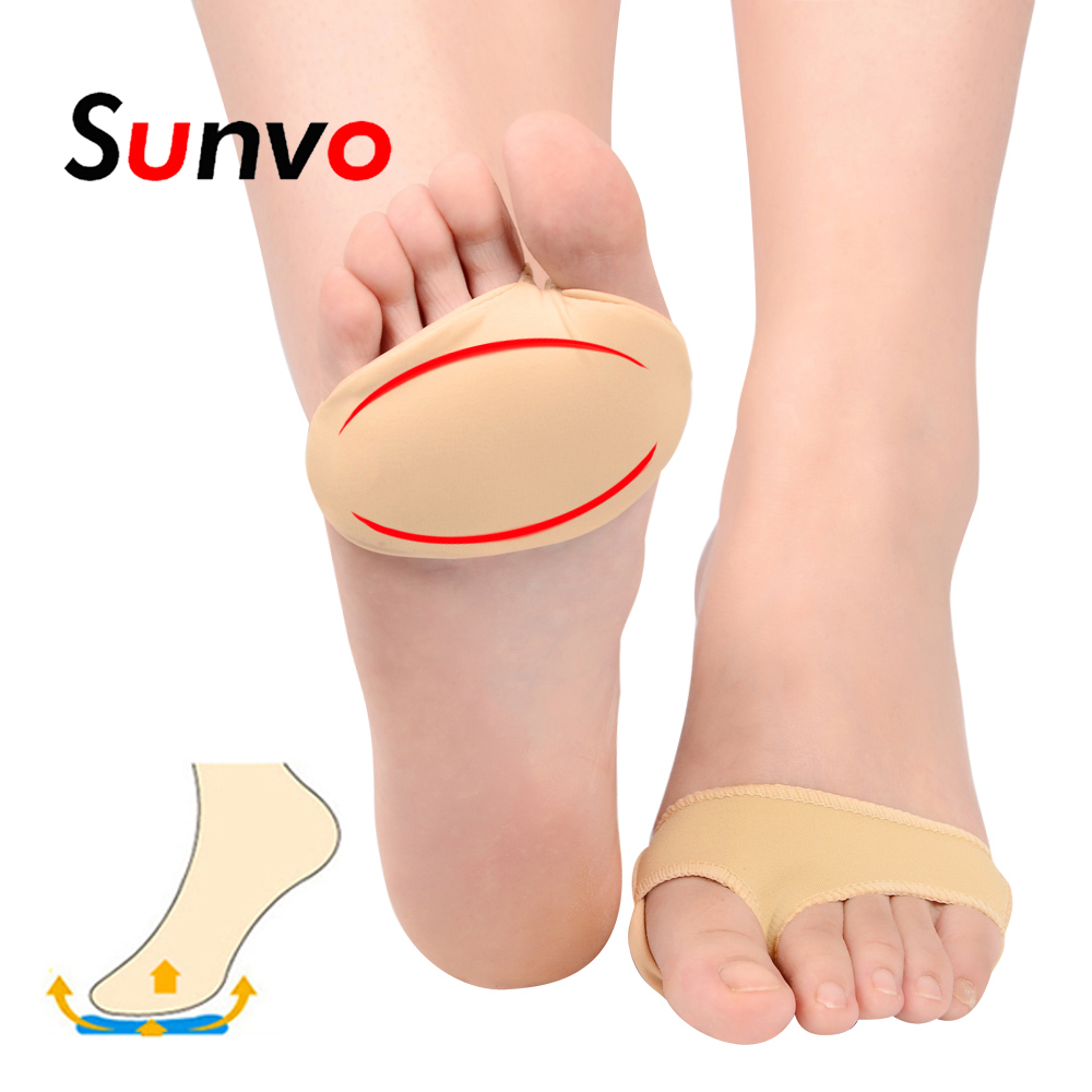 Sunvo Forefoot Pad for Hallux Valgus Bunion Pain Relief Foot Pain Thumb Separator Socks Orthopedic Toes Inserts Half Yard Pads(China)