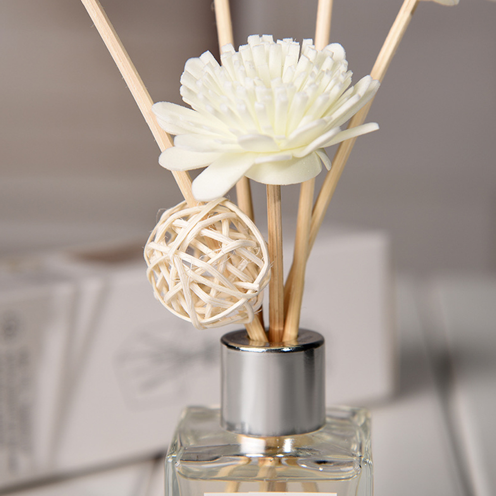 1 Set Offic Purifying Air Aroma Diffuser Set Car Portable Fragrance Decoration Relieve Stress Rattan Sticks Home Exquisite Decor