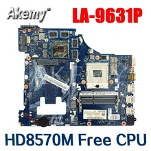 SAMXINNO For Lenovo G500 LA-9631P Laotop Mainboard LA-9631P Motherboard with HD 8570M GPU HM70  Free CPU