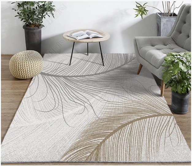 Europe du nord ins vent tapis simple moderne salon tapis thé table tapis Yijia tapis de sol. - 1