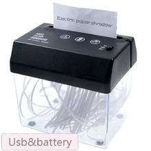 New Mini Portable USB Paper Shredder Machine Electric Cutter Strip Cut A6 Cutting Machine Tool with Letter Opener Wastebasket