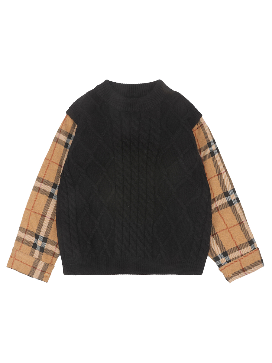 Boys' Knitted Sweater Pullover Autumn and Winter 2021 New Style Fashion Korean Style Autumn Top Children's Clothing 5