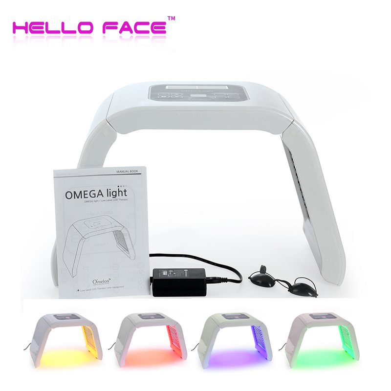 4 Color LED PDT Light Photon Therapy For Skin Therapy Red Blue Yellow Green Skin Rejuvenation Led Face Mask Light