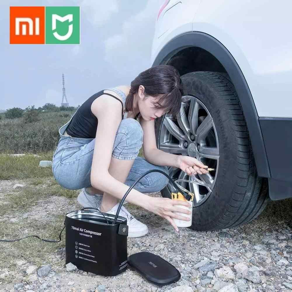 Compresor de aire Original Xiaomi 70mai 12V 70 MAI bomba de aire portátil para coche eléctrico Mini Inflador de neumáticos