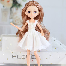 Nowe wydanie 11 wspólne ruchome ciało 26cm 1/6 lalki fioletowe brązowe oczy z modne ciuchy buty stylowa sukienka Up lalki dla dzieci DIY zabawki