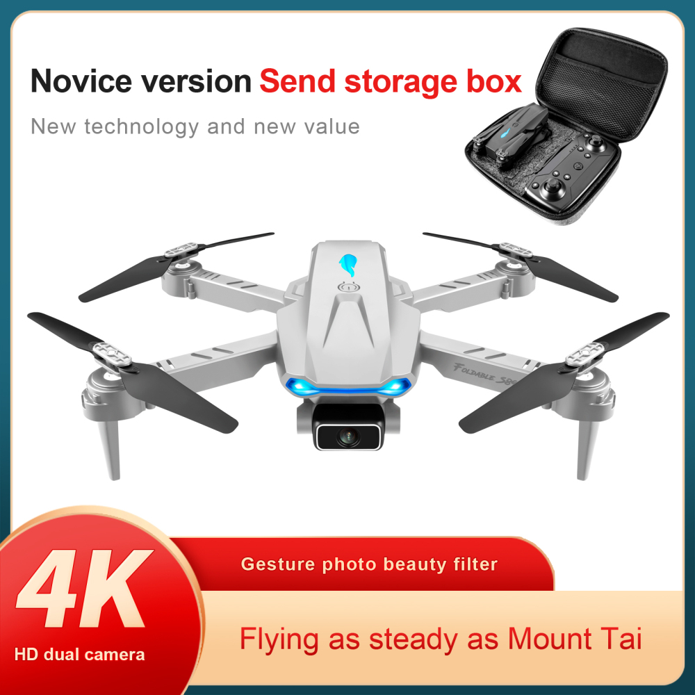 S89 Pro RC Drone 4k Profesional With WIFI Signal Trans HD Drone Dual Camera 50x Zoom Dron Gps RC Quadcopter For Boys Teens Kit