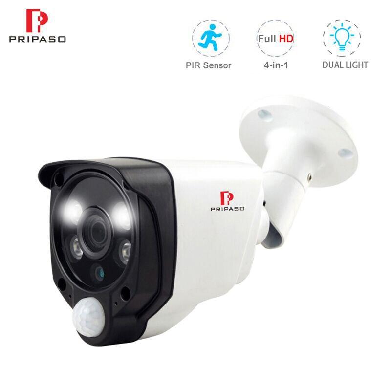 Pripaso HD 720P 1080P PIR Alarm kamera ochrony na zewnątrz IR wodoodporna CCTV wykrywanie ruchu AHD CVI TVI kamera monitorująca CVBS