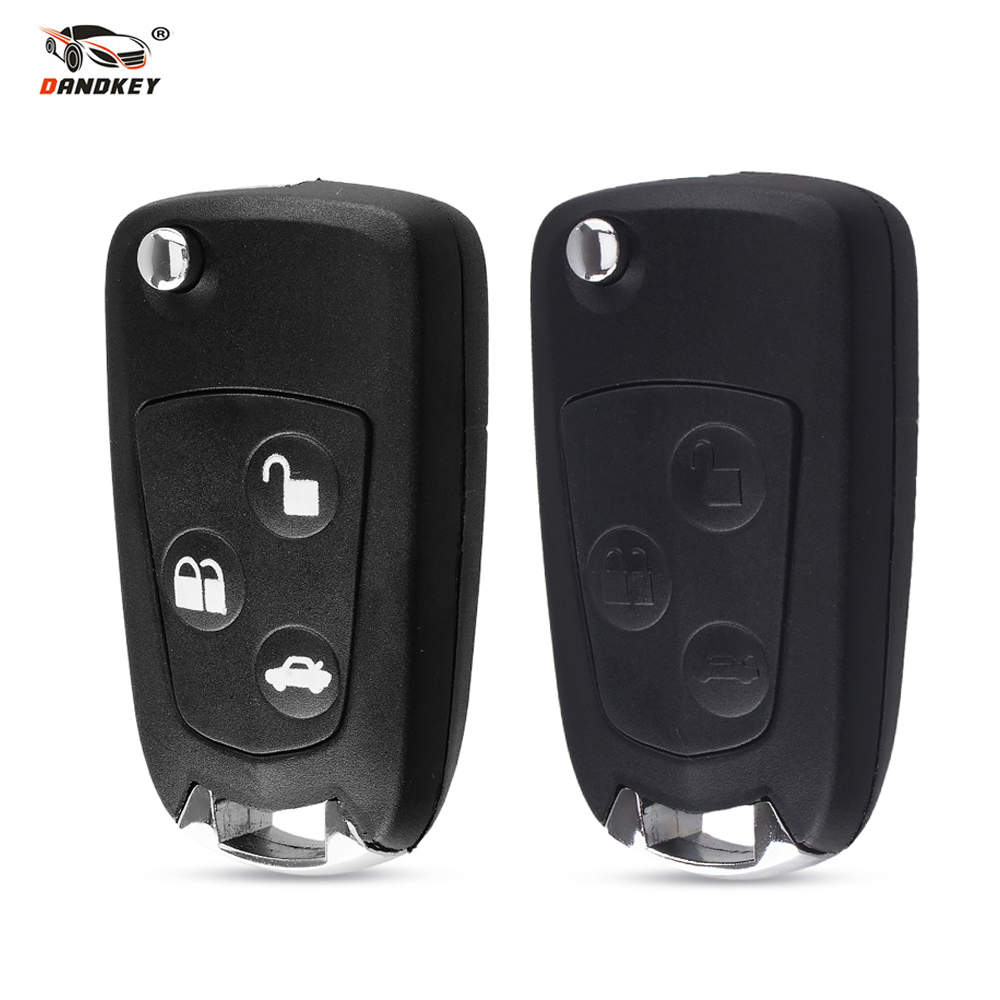 Dandkey 3 Buttons Car Modified Flip Folding Remote Key Fob Shell For Ford Focus Mondeo