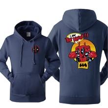 Funny Deadpool Men's Hoodies Sweatshirt X Men Fleece Hooded Fashion Streetwear The Night Batman Sportswear Winter Warm Pullover