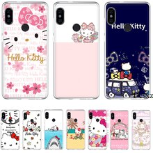 Mobile Phone Case For Xiaomi Mi F1 9 9T MAX 3 A3 Pro CC9 CC9E 5 5S 6 Mix 2S 8 A1 A2 5X 6X Lite Hard Cover Hello Kitty(China)
