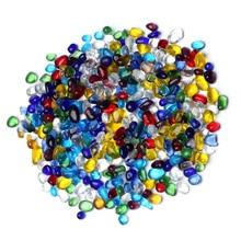 500g 3-5mm Colorful Glass Gravel Crystal Glazed Stones Decorative Aquarium Ornament for Fish Tank Vase Flowerpot