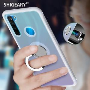 Бесцветные Чехлы для Xiaomi Redmi K20 Note 8 Pro Xiomi Mi 9T Pro Mi9t, мягкий чехол для задней панели телефона с магнитным кольцом для пальцев в автомобиле