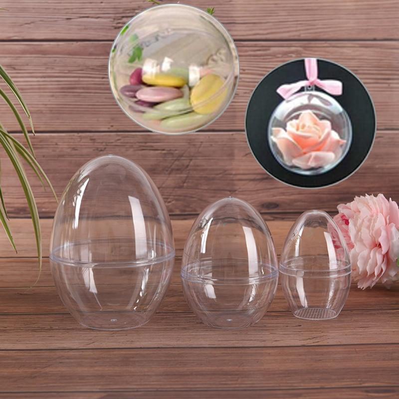 1Pc Bath Care Tool DIY Bath Bomb Mold Plastic Clear Mould Reusable Eggs Shape Crafting Home Hotel Decor For Christmas Gift