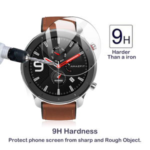 Image 3 - Screen Protector Tempered Glass For Xiaomi Amazfit GTR Smart Watch 47mm 42mm 2Pcs Explosion proof Anti Scratch Transparent Film