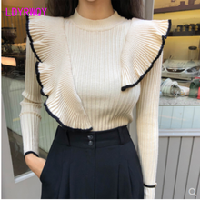 2019 autumn and winter Korean version of the new fashion slim temperament knit sweater