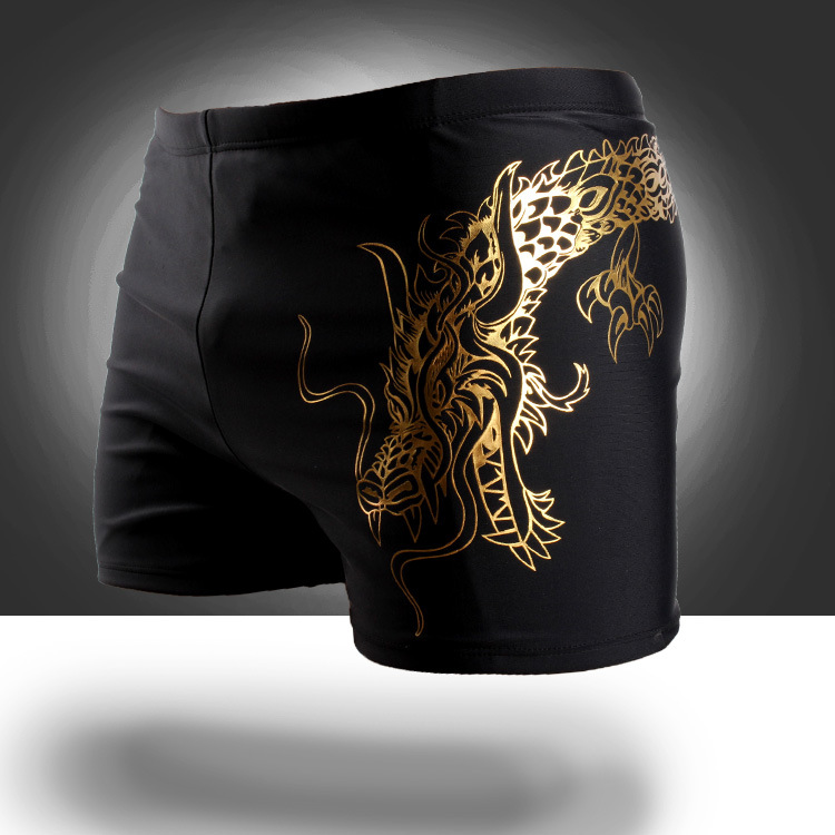 New Style Men Boxer-Style Swimming Trunks Plus-sized Hot Springs Bathing Suit Swimwear Swimming Trunks Qicaibei 807