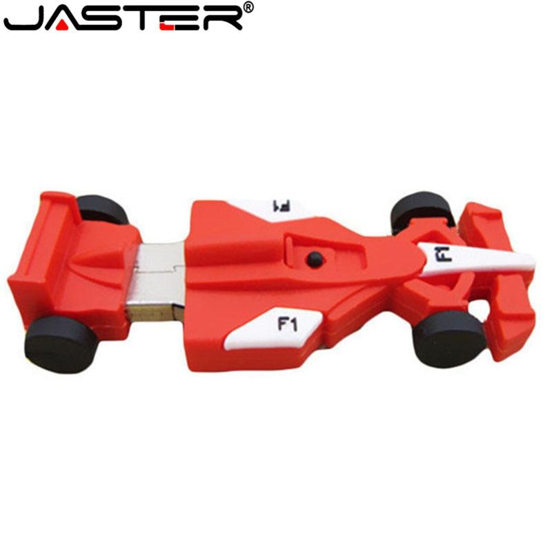 JASTER Racing Car Shape Usb Flash Drive Creative Boy's Gift Capacity  4G 8G 16GB 32GB 64GBusb Flash Drive Pendrive F1 Automobile
