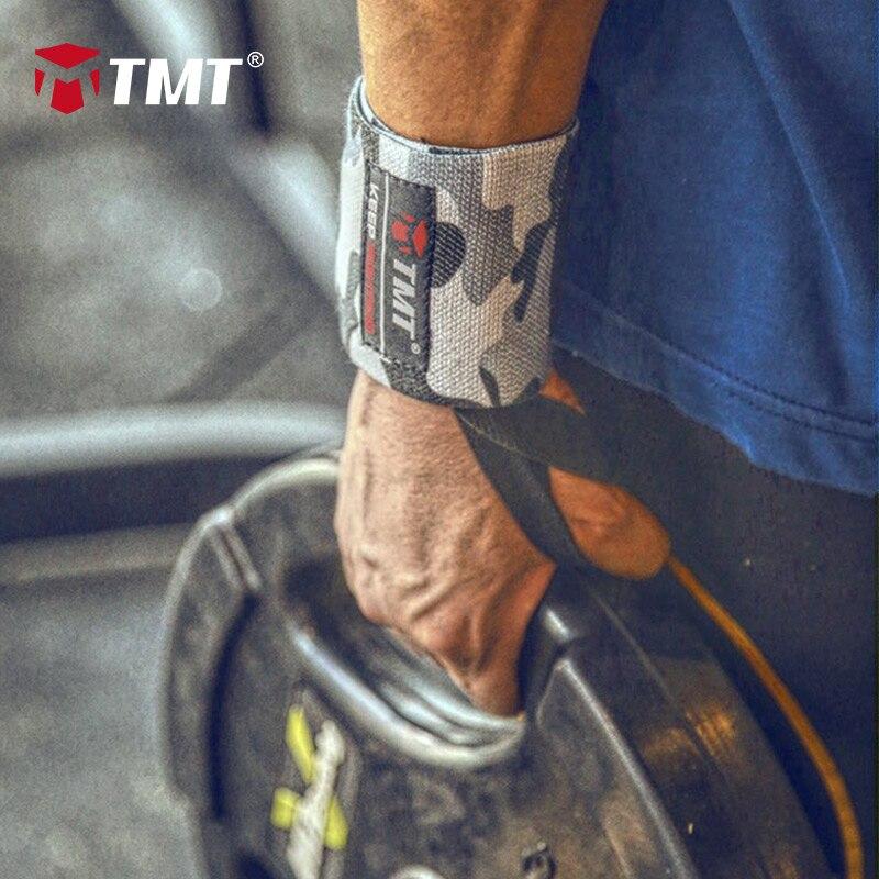Ataduras para Levantamento de Peso Suporte de Pulso Ajustável Pulseira Elástica Pulso Envolve Powerlifting Respirável 4 Cores Tmt