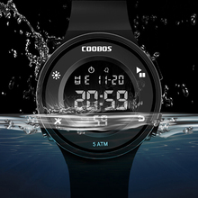 Korean Style Men's Digital Watch Simple Business 5Bar Waterproof LED Wr