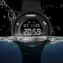 Korean Style Men's Digital Watch Simple Business 5Bar Waterproof