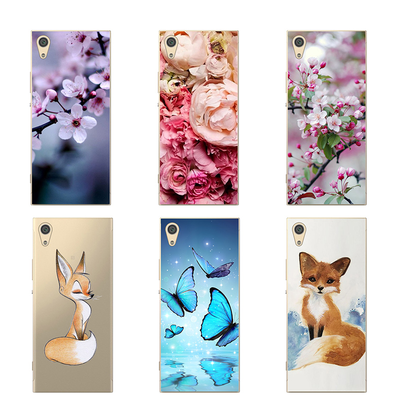 CROWNPRO Soft Silicone TPU FOR <font><b>Sony</b></font> <font><b>Xperia</b></font> XA <font><b>F3111</b></font> <font><b>Case</b></font> Cute Transparent Cover Back FOR <font><b>Sony</b></font> XA Dual F3112 Phone Protector 5.0