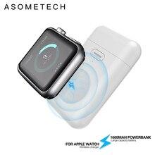 1000mAh bezprzewodowa ładowarka Mini Power Bank dla i watch 1 2 3 4 5 6 magnetyczny przenośny Powerbank cienka zewnętrzna bateria do zegarka Apple