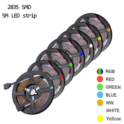 Nieuwe Smd 2835 DC12V Rgb Led Strip Licht 5M 60Leds/M Geen Waterdichte Led Light Rgb Leds tape Flexibele Diode Lint Warm Wit/Rgb