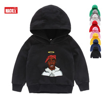 Boys Girls Sweatshirt Kids Tupac 2pac Hip Hop Swag Printed Hoodies Children Winter Long Sleeves Tops Baby Cotton Clothes 2T-8T все цены