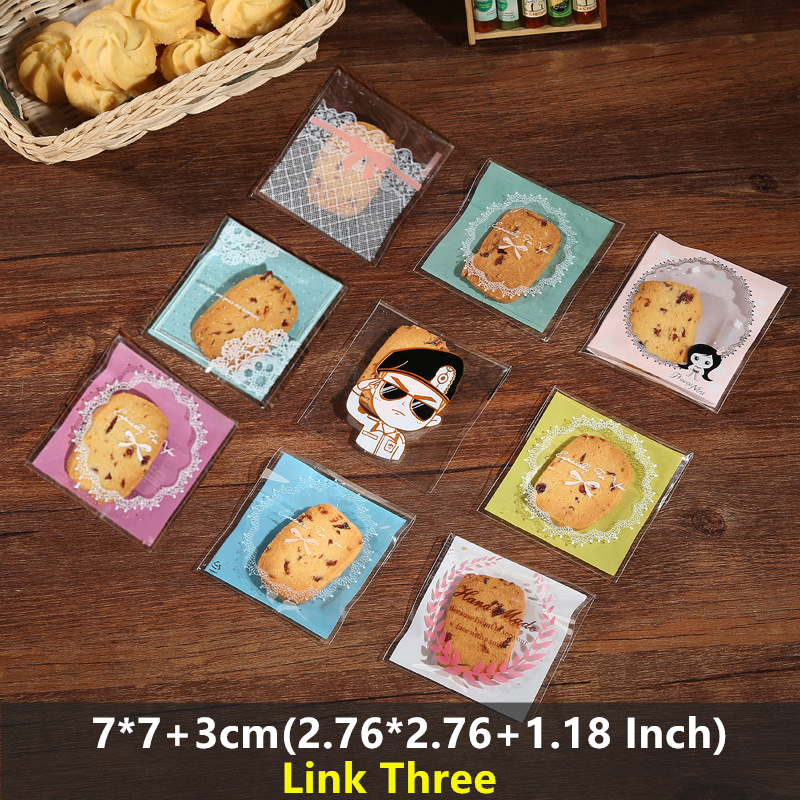 LBSISI Life 100pcs Plastic Bags Cookie Candy Bag Self Adhesive For Wedding Birthday Party Gift Bag Biscuit Baking Opp Packagi