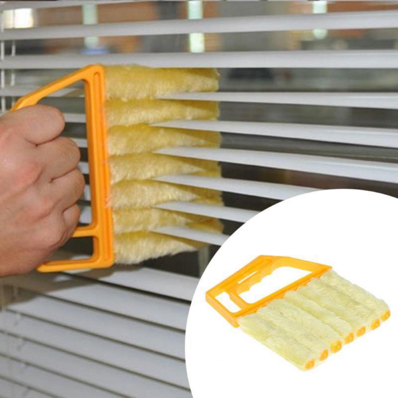 Полезная щетка из микрофибры для мытья окон, моющаяся Венецианская тряпка для очистки слепых лезвий, инструменты для очистки автомобильног...