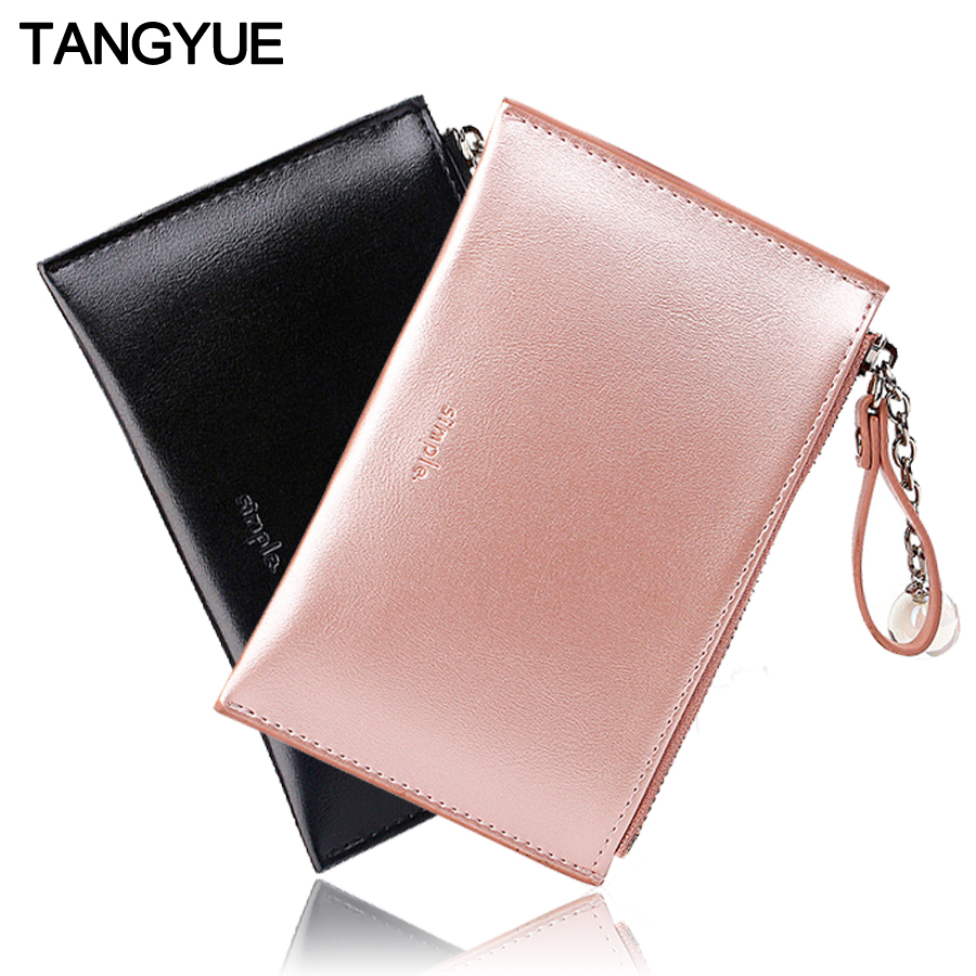 Mini Women's Wallet Female Slim Cute Leather Thin Ladies Coin Purse For Cards Small Wallet Women With Zipper Portomonee Vrouwen