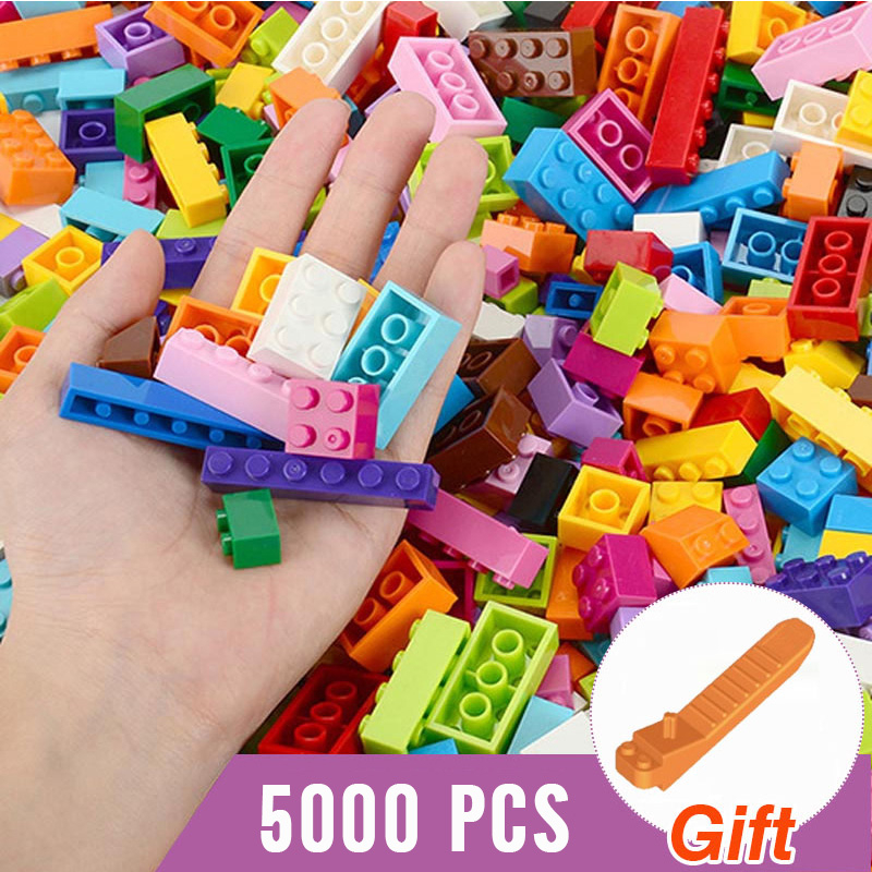 2000-5000PCS DIY Classic Small City Building Blocks Bricks Bulk Model Figures Educational Gift Toys For Children Dropship