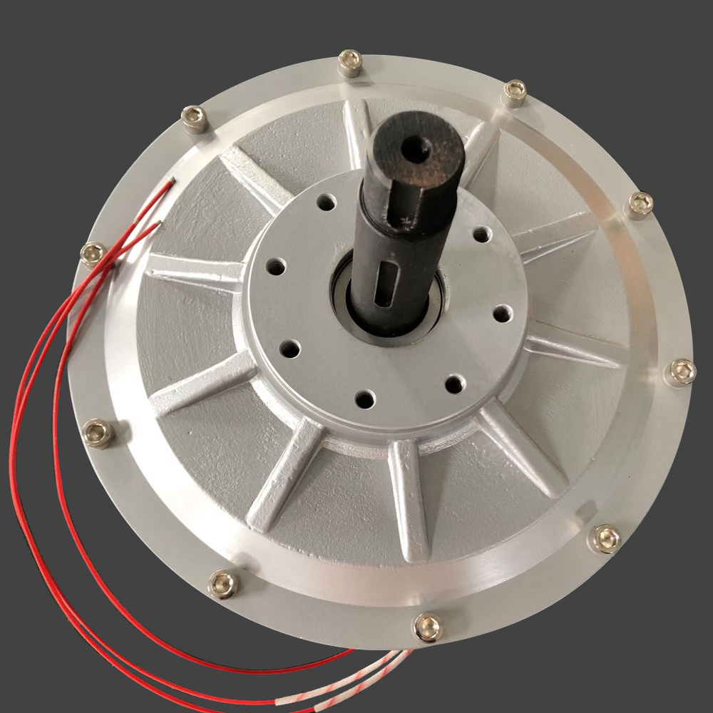 CE 3000W 3KW 1200RPM 380V AC Disc PMG Inner Rotor Three Phases Coreless Permanent Magnet Generator Alternator