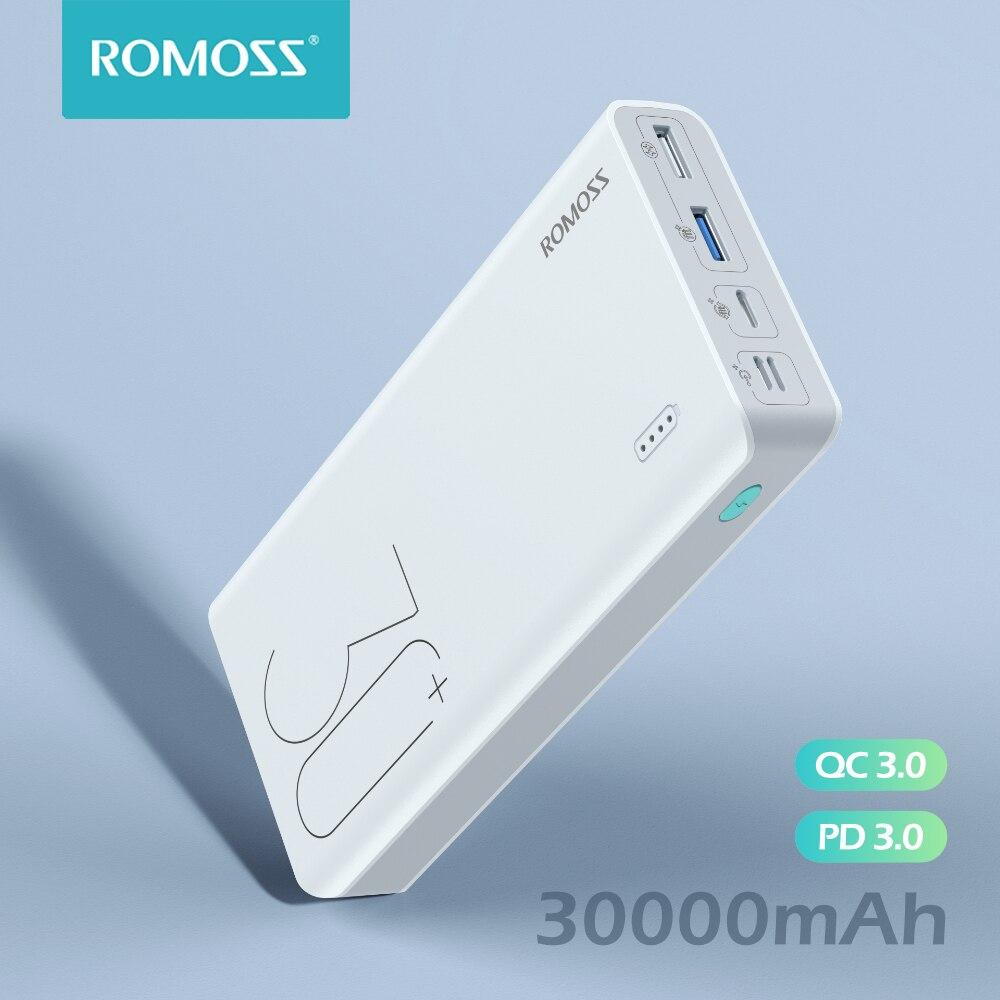ROMOSS Sense 8+ Power Bank 30000mAh QC PD 3.0 Fast Charging Powerbank 30000 mAh External Battery Charger For iPhone Xiaomi Mi 1