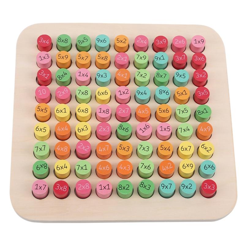 tabela de multiplicacao criancas brinquedo de matematica brinquedos de madeira educativos aritmetica aprendizagem precoce auxiliares de