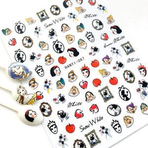 Image 1 - Hanyi Serie Sakura Bloem HANYI 87 Prinses 3d Nail Art Stickers Decal Template Diy Nail Tool Decoraties