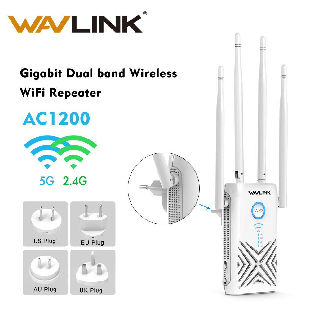 AC1200 Router Gigabit WiFi Range Extender/Access Point 1200Mbps Wireless Wifi Repeater 2.4G+5Ghz Dual Band Wi-fi Signal Booster