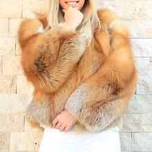 FURSARCAR 2020 nowych kobiet prawdziwy czerwony lis futrzany płaszcz zimowy oryginalne naturalne srebrne Fox odzież z futrem dla kobiet zagęścić ciepłe kurtki tanie tanio CN (pochodzenie) Zima Futro High Street Grube ciepłe futro Z fox fur collar Przycisk zadaszone REGULAR Pełna Prawdziwe futro
