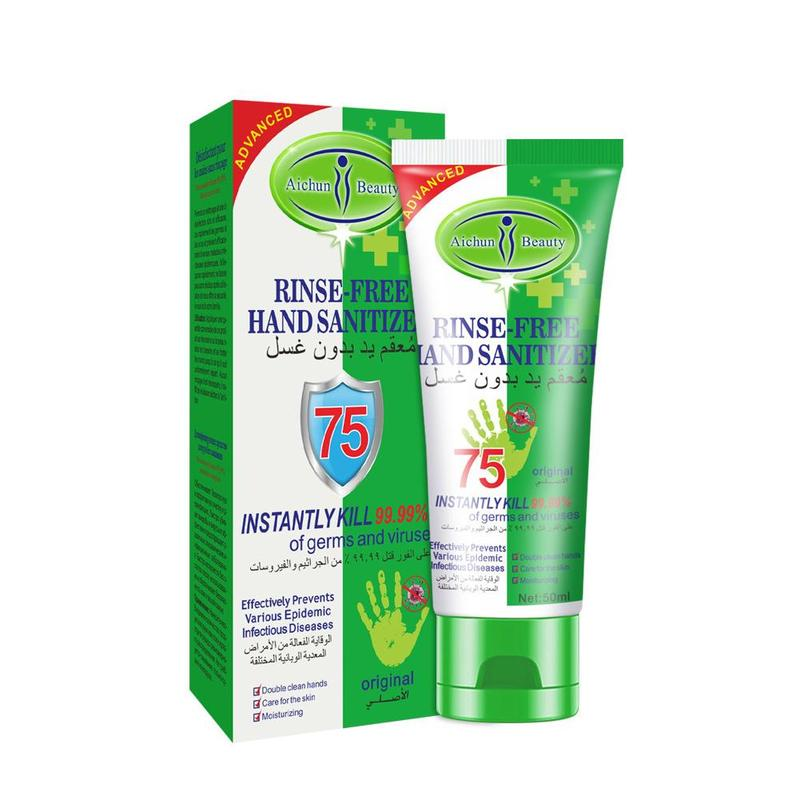 Antibacterial Healthy Hand Sanitizer Gel Alcohol Content Is 75% Disposable Quick-drying Alcoholic Hand Sanitizer 50ml/100ml