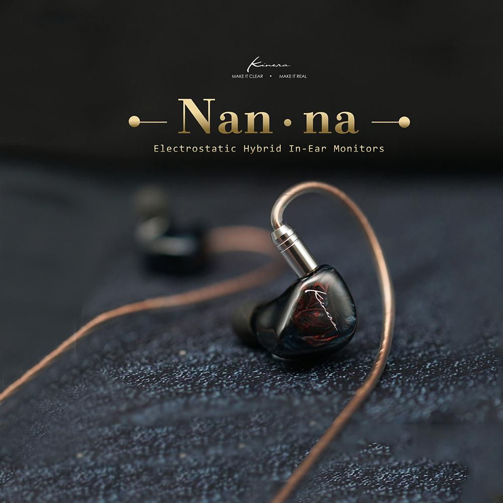 Kinera Nanna Electrostatic Dynamic Driver Balanced Armature Hybrid Flagship HiFi In-Ear Earphone With 2 Pin Detachable Cable