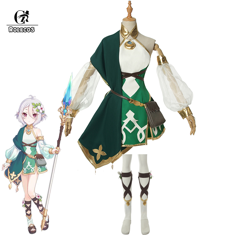 Anime Princess Connect Re:Dive Cosplay Costumes Natsume Kokkoro Cosplay Costume Women Dresses With Bag Full Set(China)