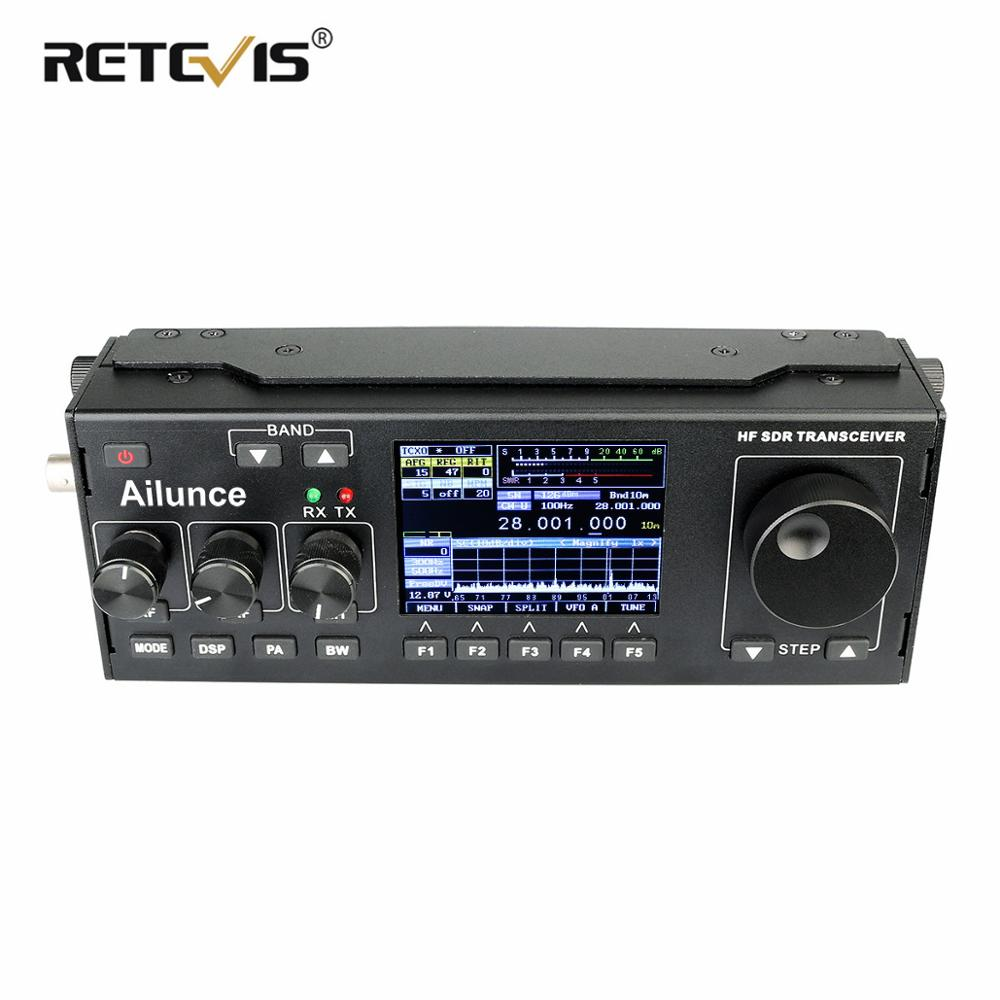 RETEVIS Ailunce HS1 HF SDR Transceiver SSB Transceiver Ham Radio HF Transceiver QRP 15W 0.5 30MHz SSB Radio CW AM FM HF Band-in Walkie Talkie from Cellphones & Telecommunications