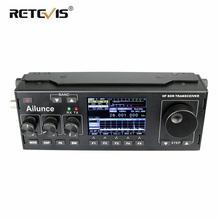 лучшая цена RETEVIS Ailunce HS1 HF SDR Transceiver SSB Transceiver Ham Radio HF Transceiver QRP 15W 0.5-30MHz SSB Radio CW AM FM HF Band