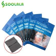 Soolala 6 pces 15x14.5cm microfiber anti-fog pano óculos limpador para lentes anti-embaciamento de pano óculos acessórios