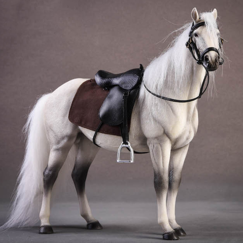 Около 21 см 1:12 моделирование ПВХ теплая кровяная лошадь крепления лошадь животное модель крепление детские игрушки украшение дома сбор пода... - 2