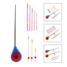 Мини-удочка для подледной рыбалки, зимняя спортивная портативная удочка, набор наконечников, рыболовные принадлежности, удочки