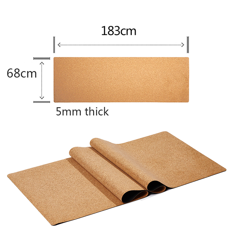 Image 3 - 183X68cm Natural Cork TPE Yoga Mat Fitness Gym Sports Mats Pilates Exercise Pads Non slip Yoga mats 5mm Absorb Sweat Odorless-in Yoga Mats from Sports & Entertainment