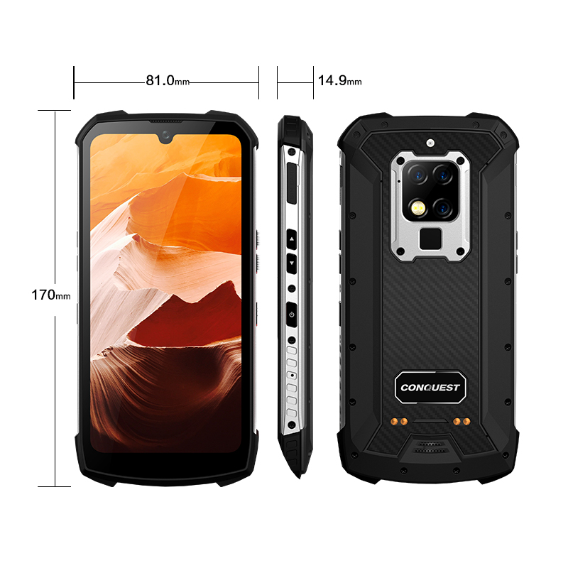 """S16 IP68 Rugged Mobile Phone 6.3"""" Display Helio P90 Octa Core 8GB 256GB 48MP Cam Android 9 Infrared Remote Control Smartphone"""